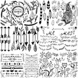 Hand drawn Ink elements Royalty Free Stock Photo