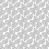 Hand Drawn Ink Paisley Seamless Pattern Royalty Free Stock Images