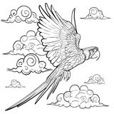 Hand drawn ink pattern. Coloring book for adult Stock Images