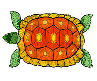 Hand drawn ink pattern. Coloring book Coloring for adult Page for coloring book: very interesting and relaxing Stock Image