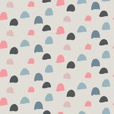 Hand drawn ink seamless pattern. Endless vector background stock illustration