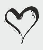 Hand drawn ink splatter heart vector Stock Photo