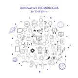 Hand Drawn Innovative Technologies Collection royalty free illustration
