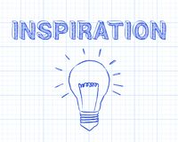 Inspiration Light Bulb Graph Paper Stock Photo