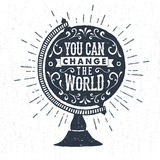 Hand drawn inspirational label Stock Images