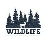 Hand drawn inspirational label. Traveling through wild nature. stock illustration