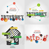 Hand drawn internet concepts and stickers Royalty Free Stock Photography