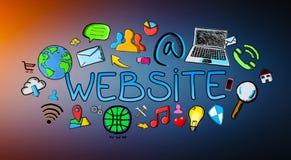 Hand drawn internet illustration Stock Photography