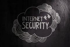 Hand drawn internet security Stock Photo