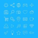 Hand drawn internet, web icon set. Stock Photo