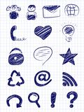 Hand drawn internet and web icons Royalty Free Stock Photo