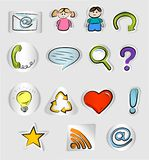 Hand drawn internet and web icons Stock Photo