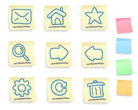 Hand drawn internet and web icons set Royalty Free Stock Photo