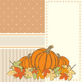 Hand drawn invitation or greeting thanksgiving card template wit Stock Image
