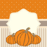 Hand drawn invitation or greeting thanksgiving card template wit Royalty Free Stock Image
