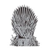 Hand drawn iron throne of Westeros made of antique swords or metal blades. Ceremonial chair built of weapon  on. White background. Beautiful fantasy design Royalty Free Stock Images
