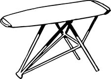 Hand Drawn Ironing Board /Eps Royalty Free Stock Images