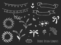Hand drawn isolated doodle design elements vector illustration