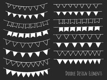 Hand drawn isolated doodle design elements Royalty Free Stock Image