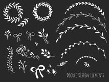 Hand drawn isolated doodle design elements Royalty Free Stock Photography