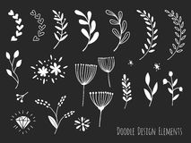 Hand drawn isolated doodle design elements Royalty Free Stock Photos