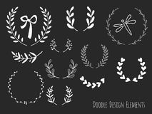 Hand drawn isolated doodle design elements Stock Photos