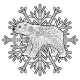 Baby bear in the zentangle style. Stock Photography