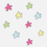 Hand drawn isolated  illustration label in patch style. Great for embroidery, sticker or pin. Royalty Free Stock Photography