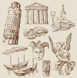 Hand drawn Italy set Stock Image