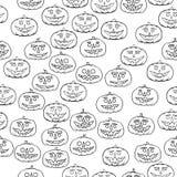 Jack-o-lantern seamless pattern - halloween background Stock Photography