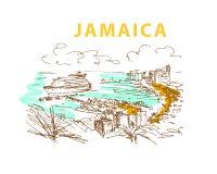 Free Hand Drawn Jamaica Landscape Sketch. Stock Photo - 69300690