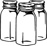 Hand Drawn Jars Stock Images
