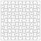 Hand drawn jigsaw puzzle pieces, 121 separate pieces that can be extracted. Hand drawn jigsaw puzzle pieces, 121 separate pieces in the vector file, which can Stock Images