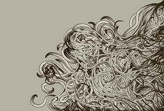 Hand Drawn jumbled messy background Stock Images