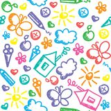 Kid pattern Royalty Free Stock Photography