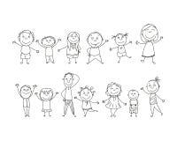 Hand Drawn Kids Stock Photo