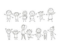 Hand Drawn Kids royalty free illustration