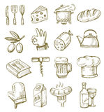 Hand drawn kitchen Stock Photos