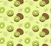 Hand drawn kiwi seamless pattern. Vector illustration stock illustration