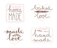 Hand drawn label set Royalty Free Stock Photos