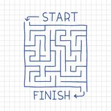 Hand drawn labyrinth in notepad vector Royalty Free Stock Images