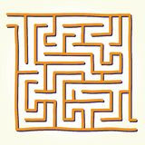 Hand drawn labyrinth vector Royalty Free Stock Image