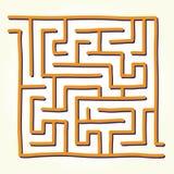 Hand drawn labyrinth vector Royalty Free Stock Image