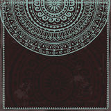 Hand drawn lace card in oriental style Royalty Free Stock Photo