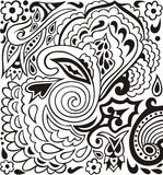 Hand-drawn lace doodles retro pattern for paisley. Royalty Free Stock Image