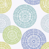 Hand drawn  lace ethnic seamless pattern Stock Photo