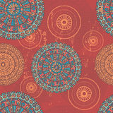 Hand drawn  lace ethnic vintage seamless pattern Stock Image