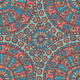 Hand drawn lace seamless pattern in motley tones. All objects are conveniently grouped and are easily editable vector illustration
