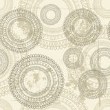 Hand drawn  lace vintage seamless pattern Stock Photo