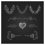 Hand Drawn Laurels, wreath and design elements Royalty Free Stock Photography